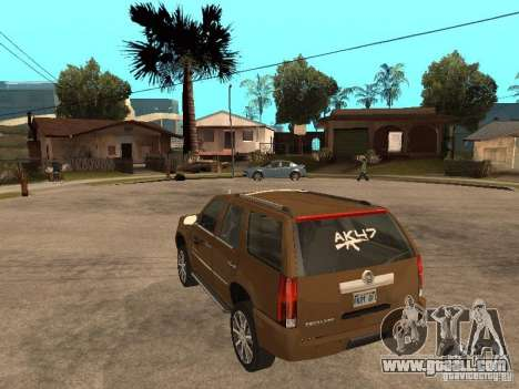 Cadillac Escalade for GTA San Andreas back left view