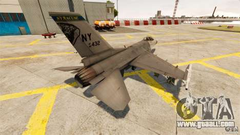 F-16C Fighting Falcon for GTA 4 back left view