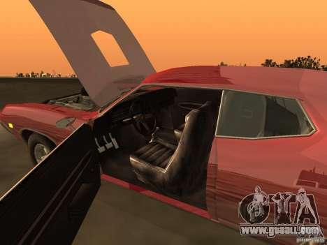 Ford Torino Cobra 1970 Tunable for GTA San Andreas interior