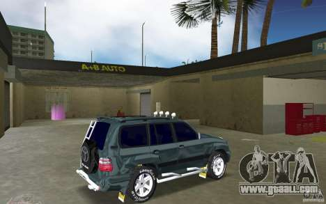 Toyota Land Cruiser 100 for GTA Vice City right view