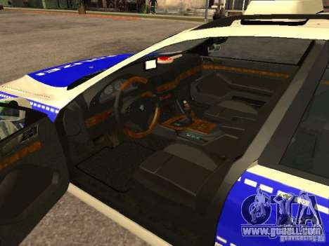 BMW 525i Touring Police for GTA San Andreas back left view
