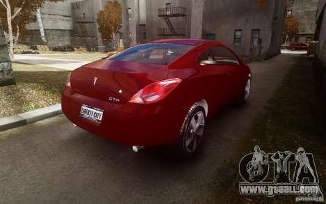 Pontiac G6 for GTA 4 back view