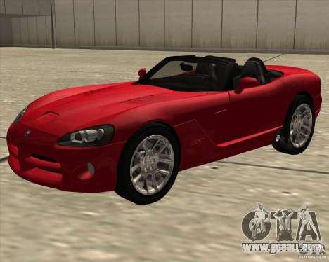Dodge Viper SRT-10 Roadster for GTA San Andreas