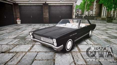 Ford Mercury Comet Caliente Sedan 1965 for GTA 4 back view