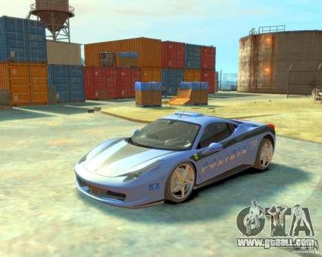 Ferrari 458 Italia Police for GTA 4