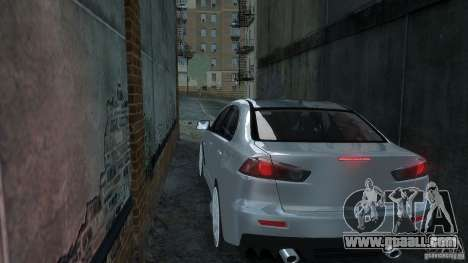 Mitsubishi Lancer EVO X for GTA 4 back left view
