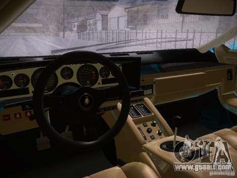 Lamborghini Countach LP5000 for GTA San Andreas back view