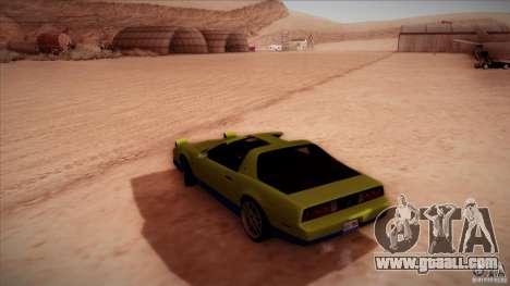 Pontiac Firebird Trans Am for GTA San Andreas left view