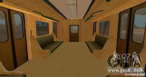 Metro type HEDGEHOG for GTA San Andreas inner view