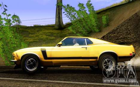 Ford Mustang Boss 302 for GTA San Andreas left view
