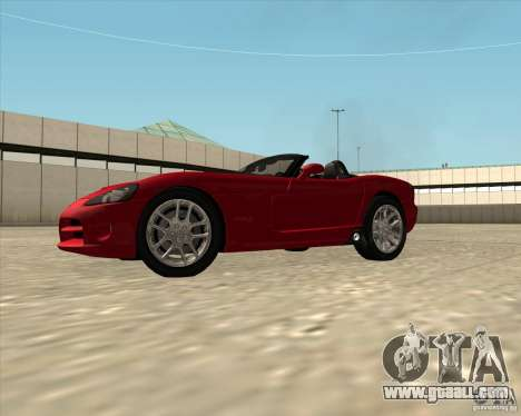 Dodge Viper SRT-10 Roadster for GTA San Andreas right view