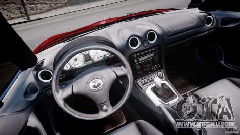 Mazda MX-5 Miata for GTA 4 back view