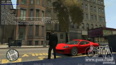 Simple Trainer Version 6.2 for 1.0.1.0-1.0.0.4 for GTA 4 ninth screenshot