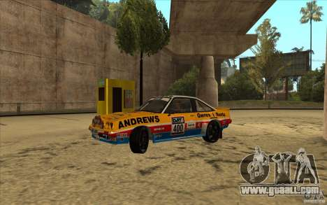Opel Manta 400 for GTA San Andreas back view