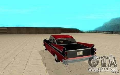 Dodge Lancer 1957 for GTA San Andreas back left view