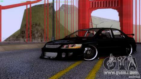 Mitsubishi Lancer Evolution 8 Drift for GTA San Andreas left view