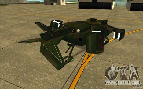 Aliens vs. Predator Marine Drobship for GTA San Andreas right view