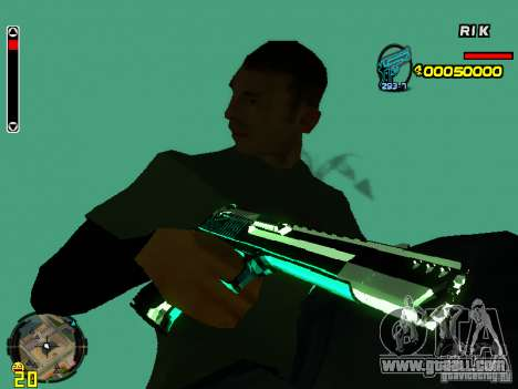 Blue weapons pack for GTA San Andreas fifth screenshot