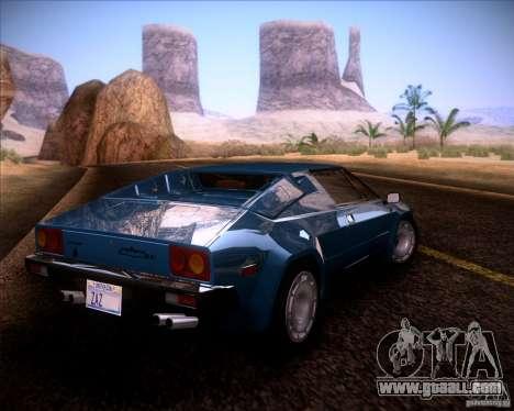 Lamborghini Jalpa 3.5 1986 for GTA San Andreas left view