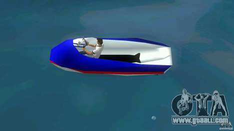Speedboat dinghy for GTA Vice City left view