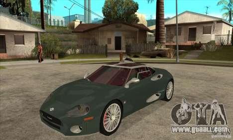 Spyker C8 Laviolete for GTA San Andreas