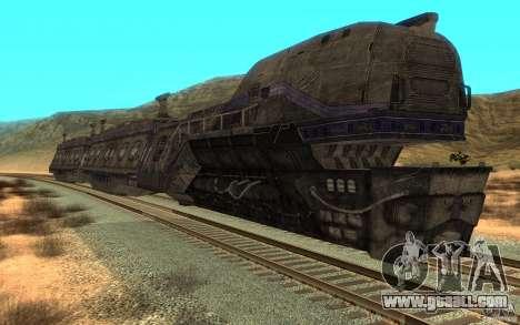 A train from the game Aliens vs Predator v1 for GTA San Andreas