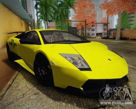 Lamborghini Murcielago LP 670/4 SV Fixed Version for GTA San Andreas right view