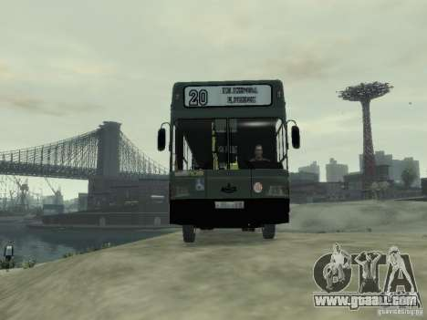 MAZ 103 Bus for GTA 4 back view