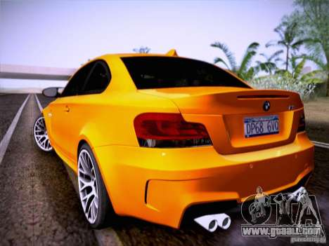 BMW 1M E82 Coupe for GTA San Andreas right view