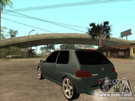 Peugeot 106 GTI Tuning for GTA San Andreas back left view