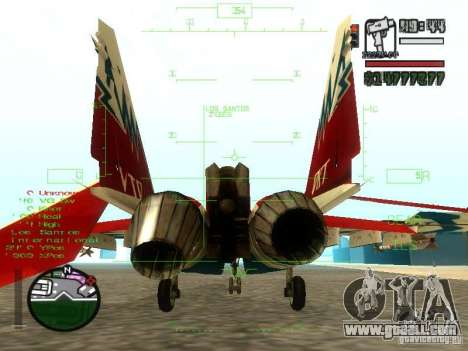 MIG 29 OVT for GTA San Andreas right view