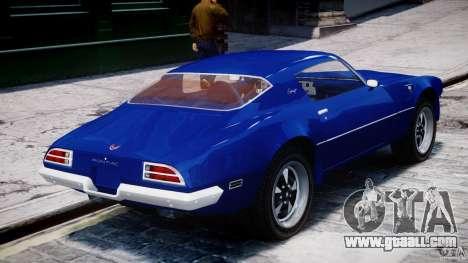 Pontiac Firebird Esprit 1971 for GTA 4 interior