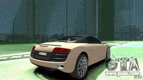 Audi R8 Spyder v10 [EPM] for GTA 4 back left view