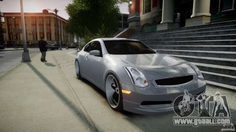 Infiniti G35 Coupe 2003 JDM Tune for GTA 4 inner view