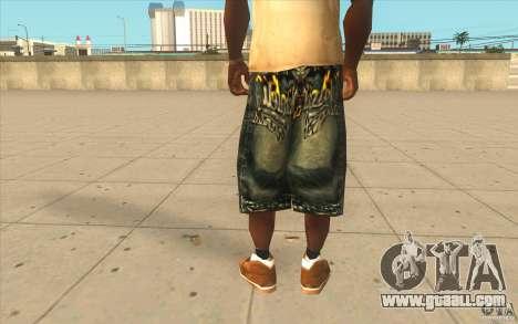 The BIG Makaveli Short Jeans for GTA San Andreas third screenshot