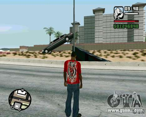 Jumps on the highway in Las Venturase for GTA San Andreas second screenshot
