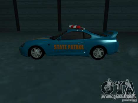 Toyota Supra California State Patrol for GTA San Andreas upper view