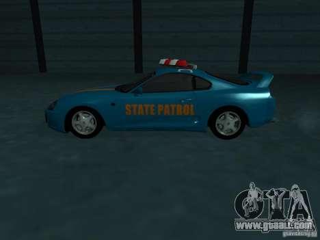Toyota Supra California State Patrol for GTA San Andreas upper view
