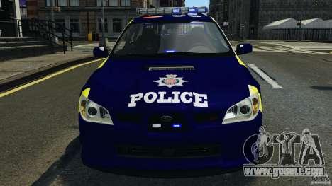 Subaru Impreza British ANPR [ELS] for GTA 4 upper view