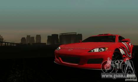Mazda RX-8 Tuneable for GTA San Andreas inner view