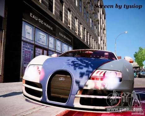Bugatti Veryon SS COP for GTA 4 back left view