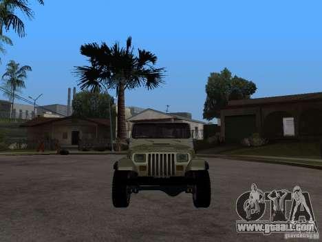 Jeep Wrangler 1986 4.0 Fury v.3.0 for GTA San Andreas right view