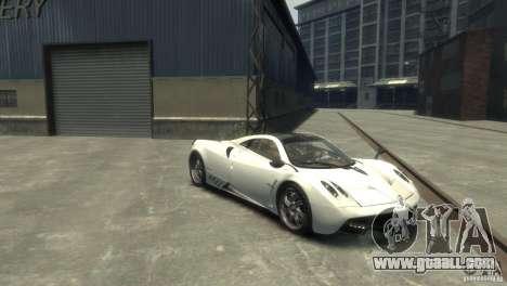 Pagani Huayra for GTA 4 back left view