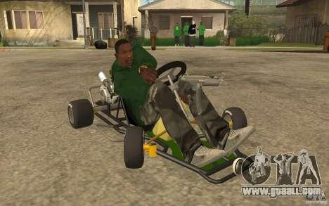 Hayabusa Kart for GTA San Andreas back view