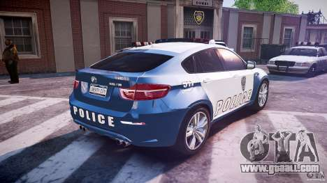 BMW X6M Police for GTA 4 upper view