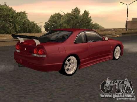 Nissan Skyline GT-R BCNR 33 for GTA San Andreas left view