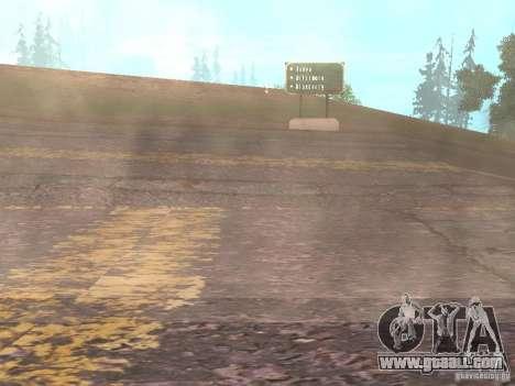 New roads in Vajnvude for GTA San Andreas seventh screenshot