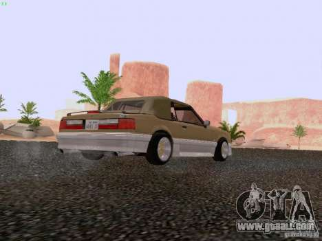 Ford Mustang GT 5.0 Convertible 1987 for GTA San Andreas right view
