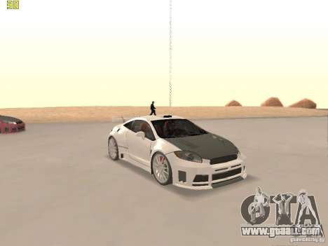 Mitsubishi Eclipse GT NFS-MW for GTA San Andreas upper view