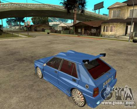 Lancia Delta Sparco for GTA San Andreas left view